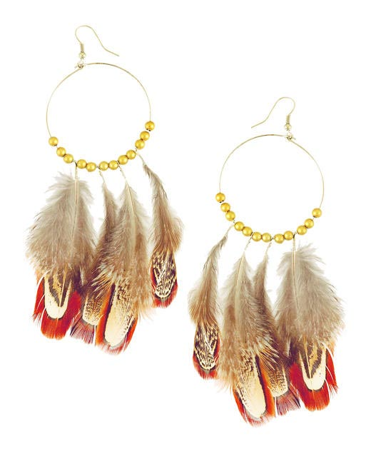 Birds of a Feather Gray Earrings - Rs. 450