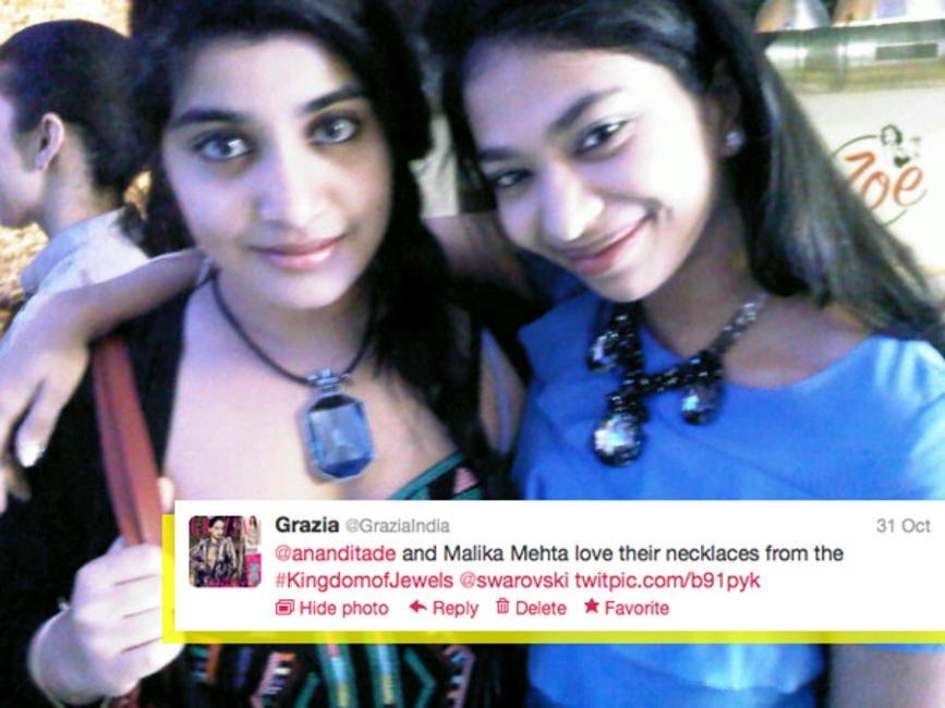 Anandita De and Malika Mehta at the Kingdom of Jewels event