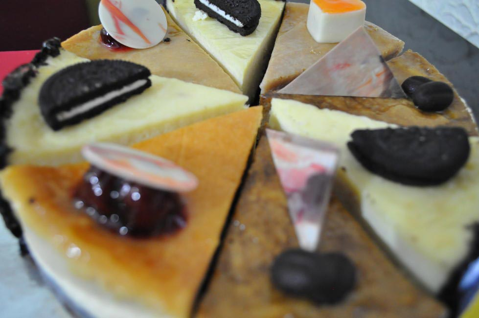 Assortment of cheesecakes