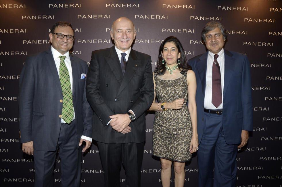 Chetan Mehta, Angelo Bonati, CEO, Officine Panerai, Devaunshi Mehta & Anoop Mehta