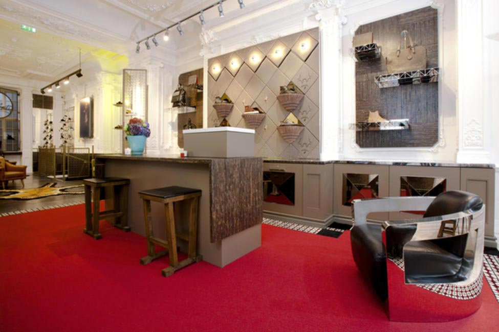 Christian Louboutin's Mens Boutique in Dover Street London, Picture Courtesy Susie Rea