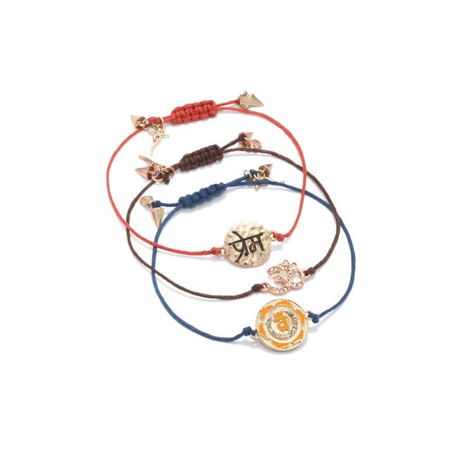 Deepak Chopra Bracelet set, Picture Courtesy Rachel Roy