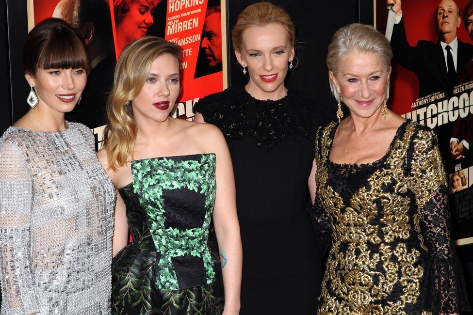 Jessica Biel, Scarlett Johansson, Toni Collette and Helen Mirren, Picture Courtesy The Celebrity City
