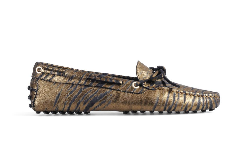 Metallic loafers, Tod's