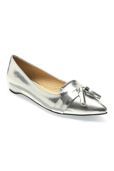 Metallic pointed toe flats, Next