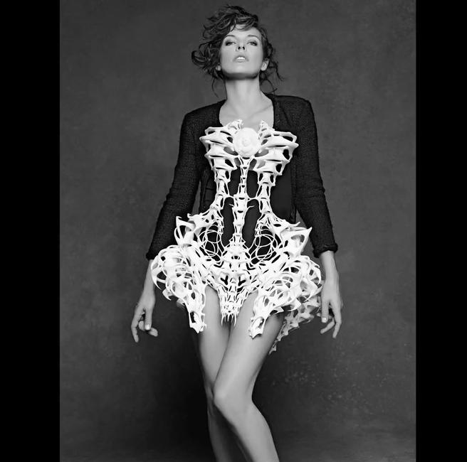 Milla Jovovich, Still from CHANEL THe little Black Jacket