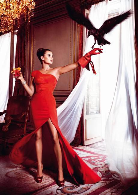 Penelope Cruz, Campari Calendar - Bird Flying Into Room