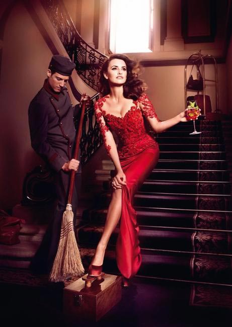 Penelope Cruz, Campari Calendar - Brrom Sweeping your Feet