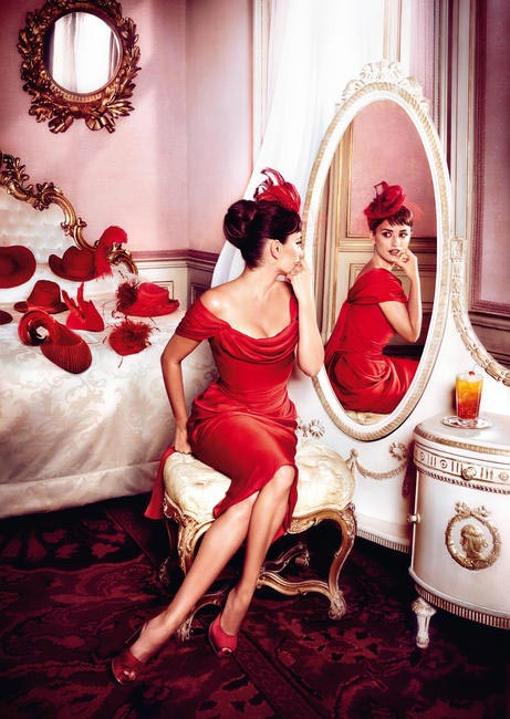 Penelope Cruz, Campari Calendar - Hat's on the Bed