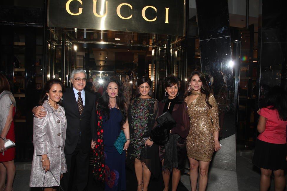 Sangeeta Assomull with guests, Bela Madan, Reena Wadhwa, Tanisha Mohan