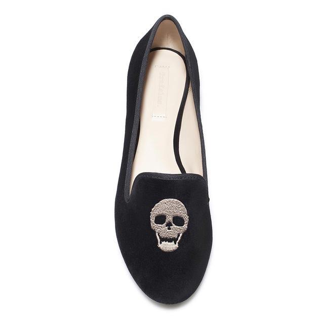 Skull embroidered flats, Zara