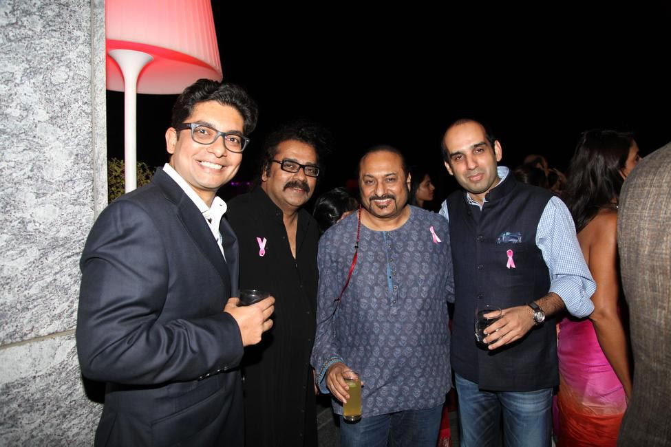 Estee Lauder Co Breast Cancer Awareness Event with Universal Music at AER Four Seasons - Rohan Vaziralli Country Manager Estee Lauder Co and Samrath...