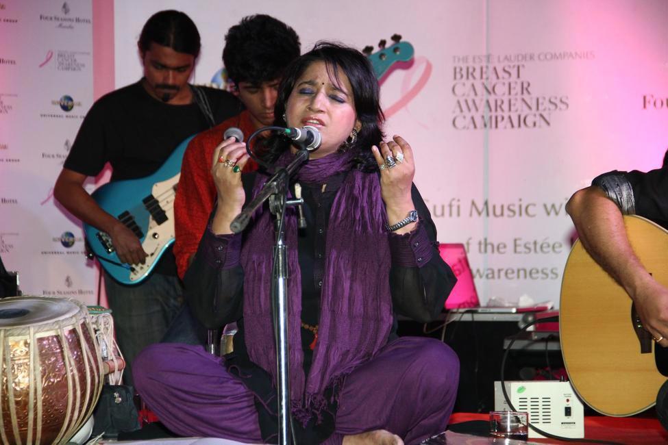 Estee Lauder Co Breast Cancer Awareness Event with Universal Music at AER Four Seasons - Sufi Singer Kavita Seth performs Ek Din