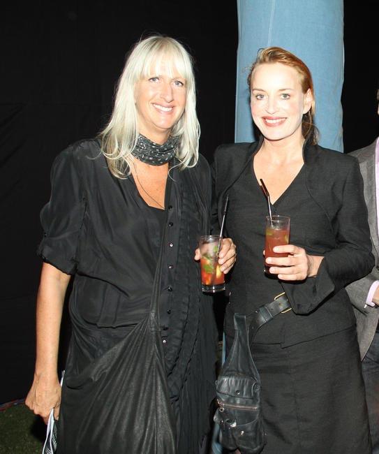 Mariette Hoitink with Dutch makeup expert Ellis Faas