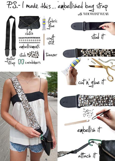 P.S I made this - Embellished Bag Strap, Picture Courtesy P.S I Made this