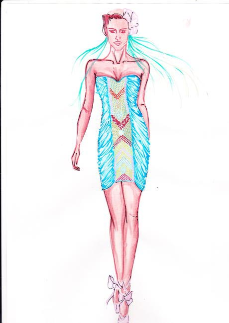 Sketches from Surily Goel's S/S 2013 collection