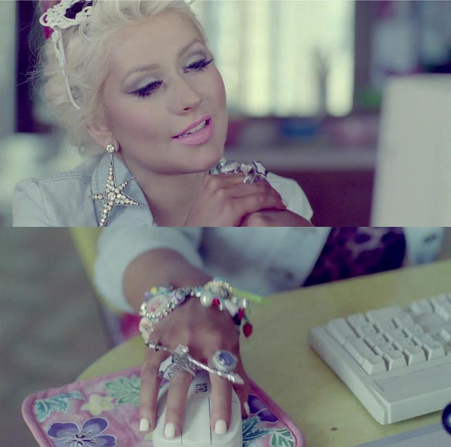 Still from Christina Aguilera's Your Body