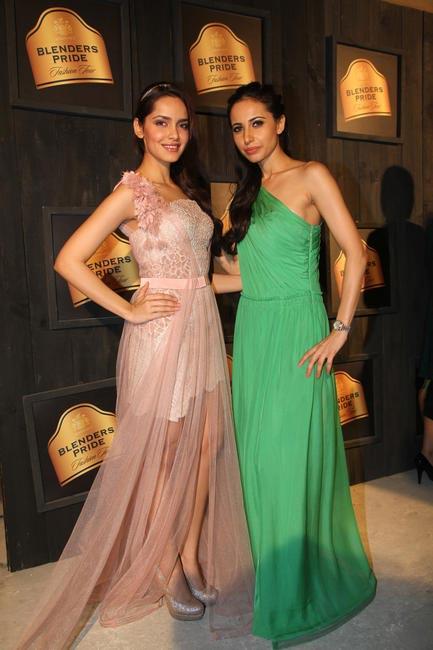At Blenders Pride FashionTour Preview-Mandira Wirk and Shazhan Padamsee