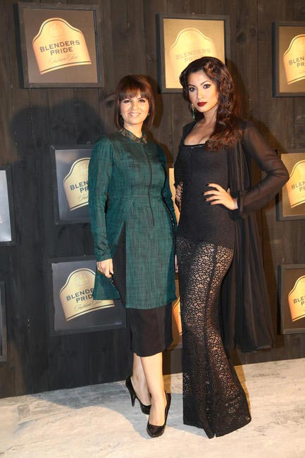 At Blenders Pride FashionTour Preview-Neetal Lulla and Gauhar Khan