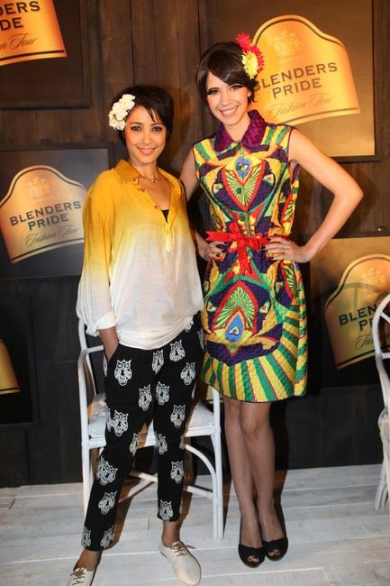 At Blenders Pride FashionTour Preview-Nida Mahmood with Kalki Koechlin