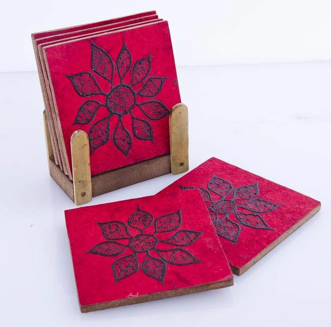 Embroidered coasters, Baaya Design, Rs. 850