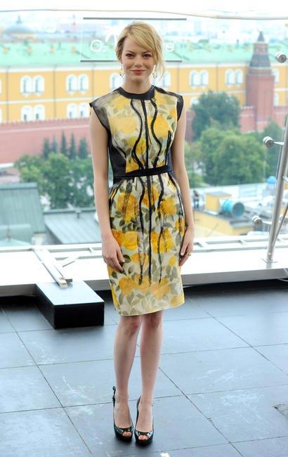 Emma Stone in a Lanvin dress