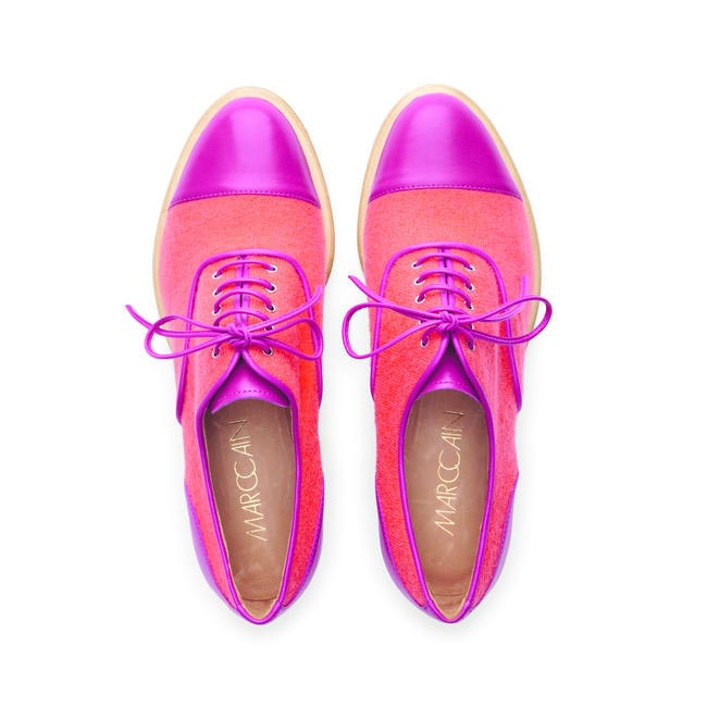 Marc Cain, Pink and Orange contrast Brogues