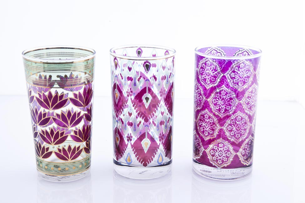 Pinted Glasses, Good Earth, Rs. 3,800 for set of six