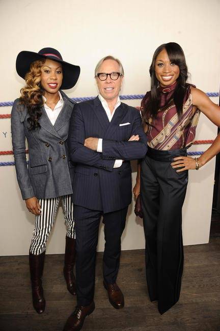 Sanya Richards Ross, Tommy Hilfiger, Allyson Felix, Picture Courtesy Getty Images