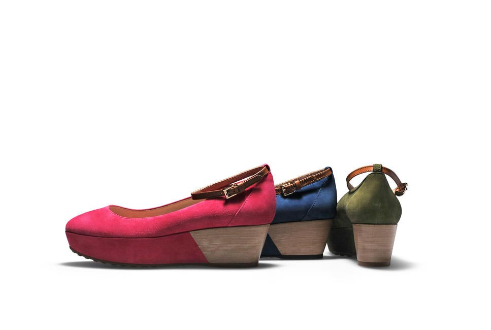 Tod's, Platform Ballerina with Ankle Strap