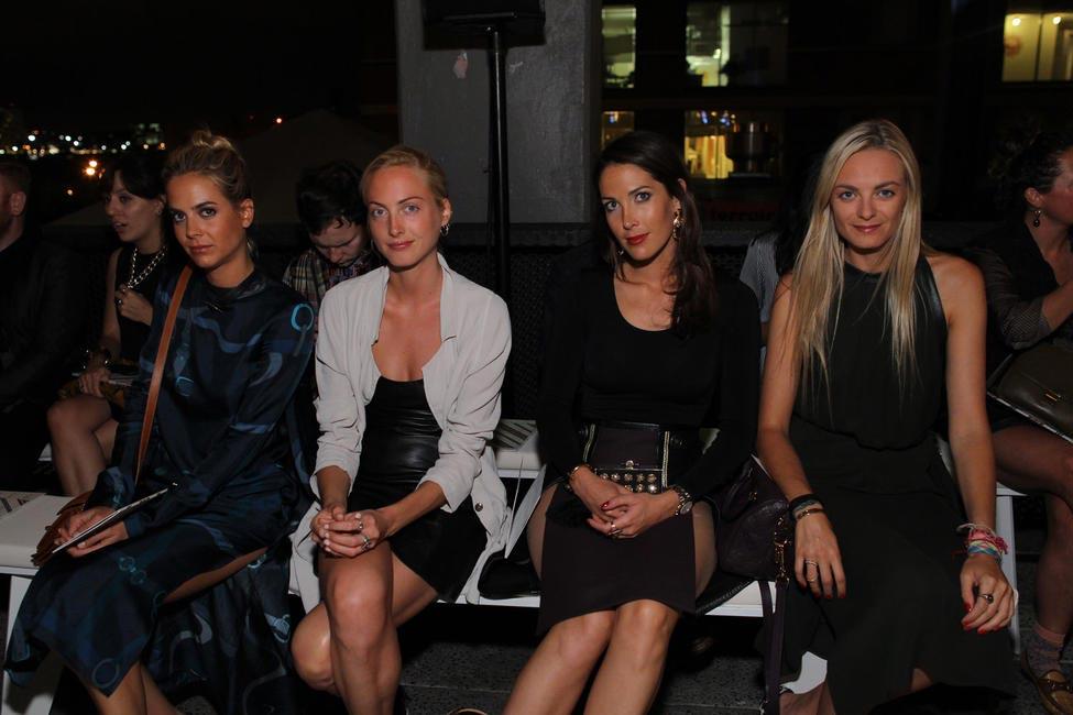 Virginie, Prisca, Jenna, Claire Courtins Clarins- Getty image