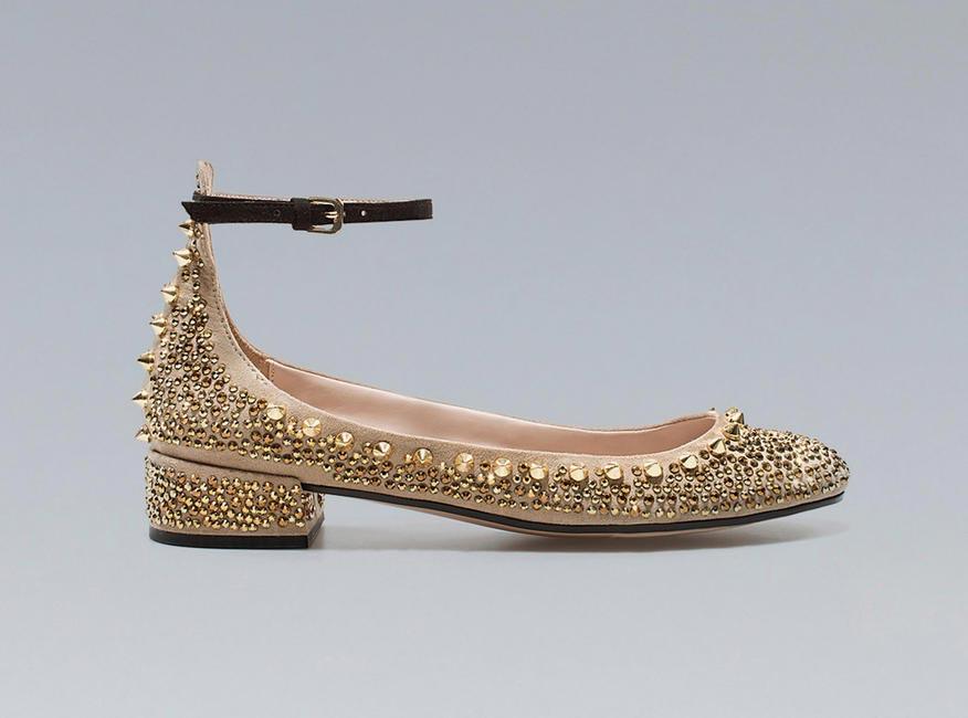 Zara, Studded ankle strap shoes