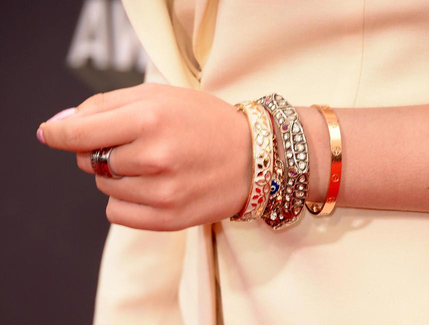A close of her bangles