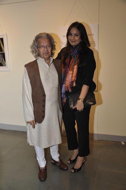 Anil Dharkar and Farah Sidiqui at the Maimouna Guerresi photo exhibition in association with Tod's in Mumbai