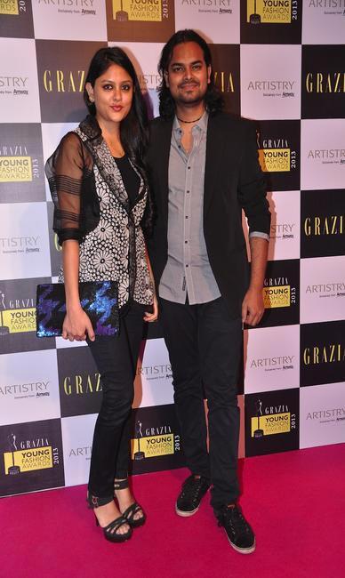 Rahul Mishra and wife