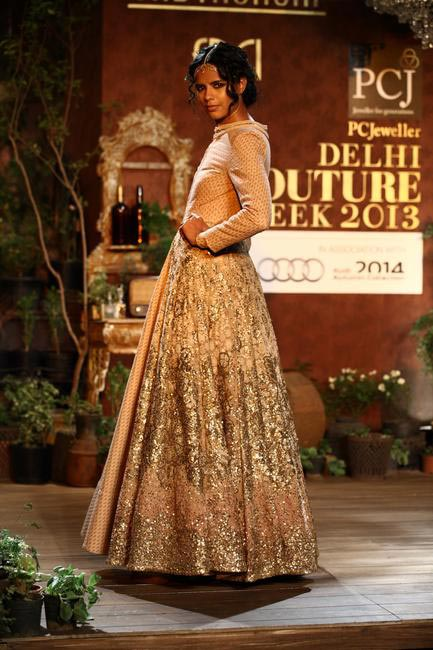 Beautiful Sabyasachi ensemble at Delhi Couture Week 2013