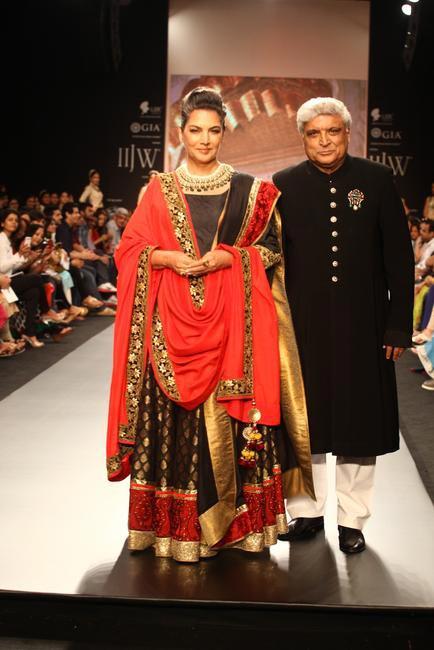 IIJW 2013 - Shabana Azmi and Javed Akhtar for Golecha jewels