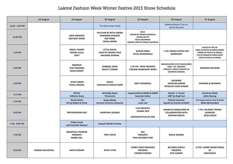 Lakme Fashion Week 9