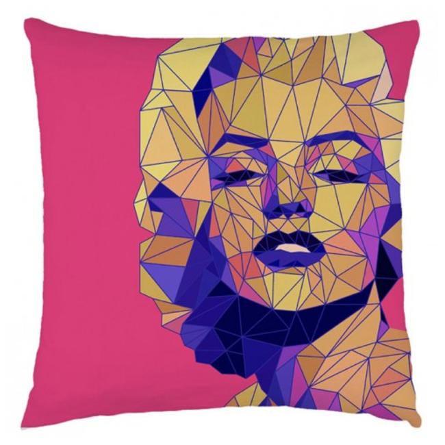 Marilyn Monroe Cushion Cover, YellowTrunk