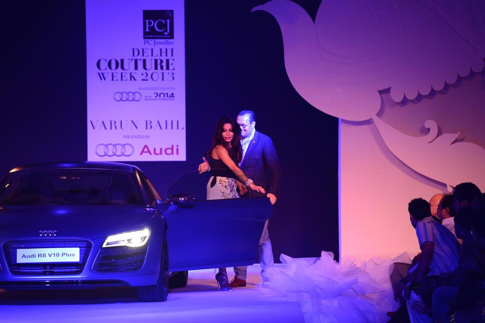 Michael Pershke of Audi with Freida Pinto