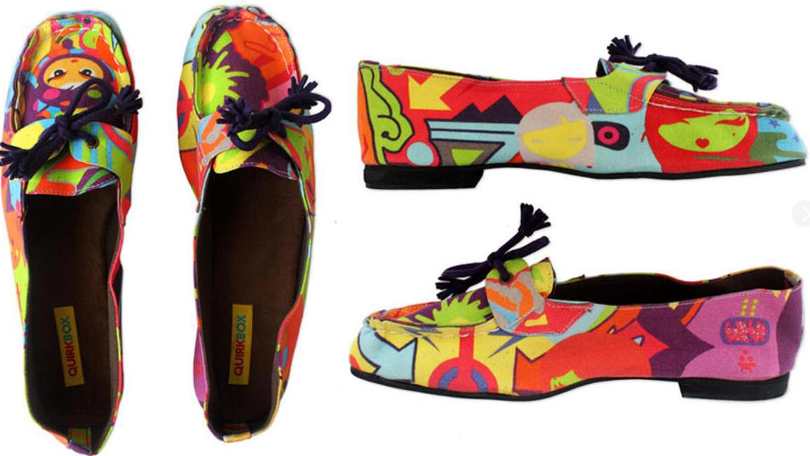 Printed shoes, Quirkbox