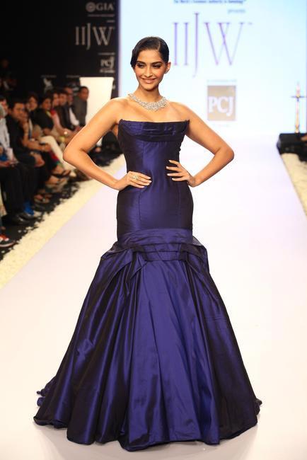 Sonam Kapoor, brand ambassador IIJW, on the inaugration day