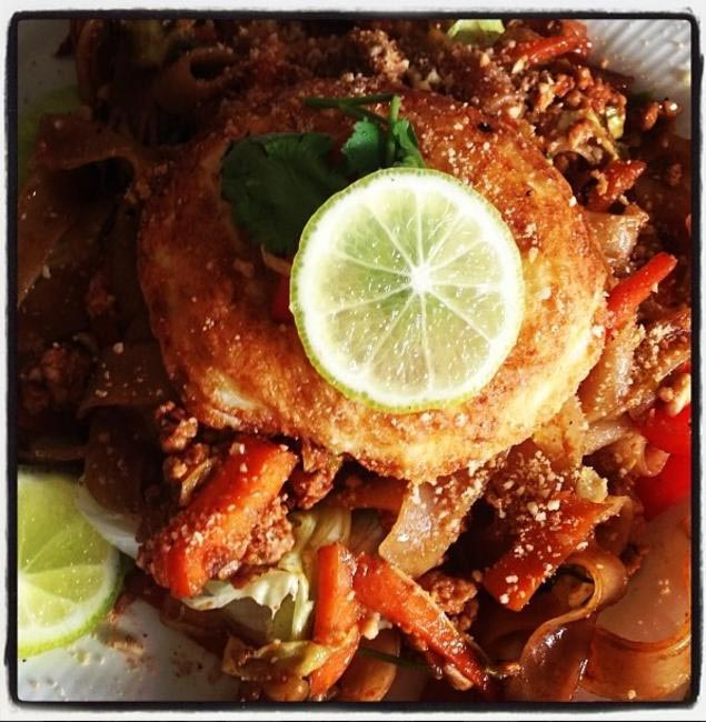A sample of Nachiket Barve's cooking - Chicken Pad Thai
