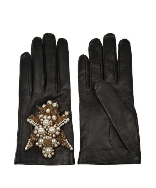 Alexander McQueen embellished gloves