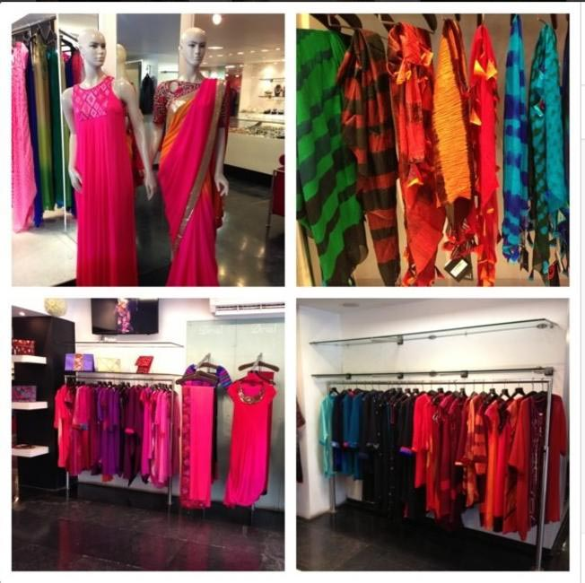 Colours are his weakness and his absolute strength. His collection at a preview in Ahemedabad.