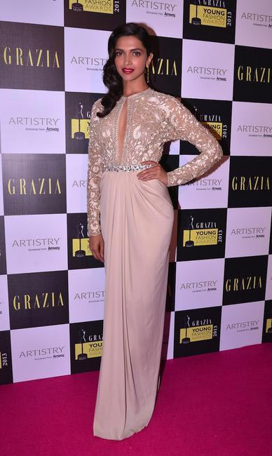 Deepika Padukone in Naeem Khan at Grazia Young Fashion Awards 2013