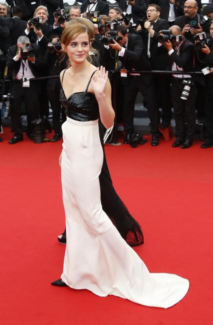 Emma Watson walked Cannes red carpet in a sleek Chanel dress