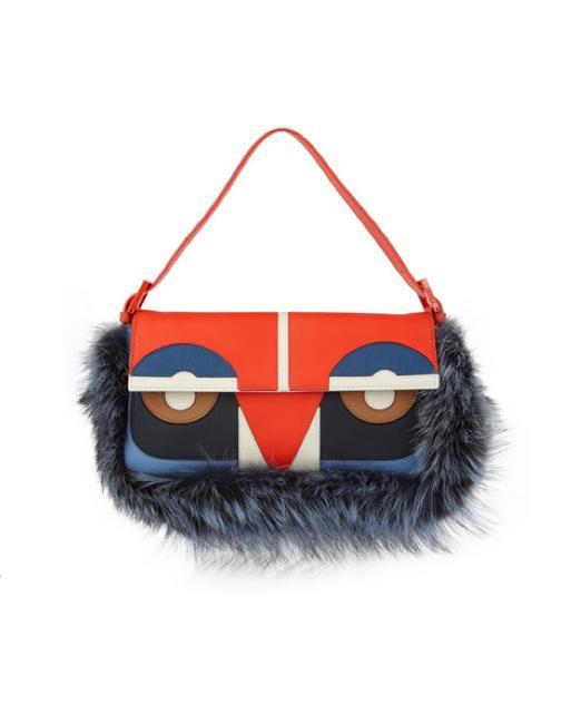 Fendi Owl Baguette and Fox Shoulder Bag