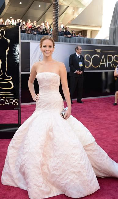 Jennifer Lawrence in Christian Dior at Oscars