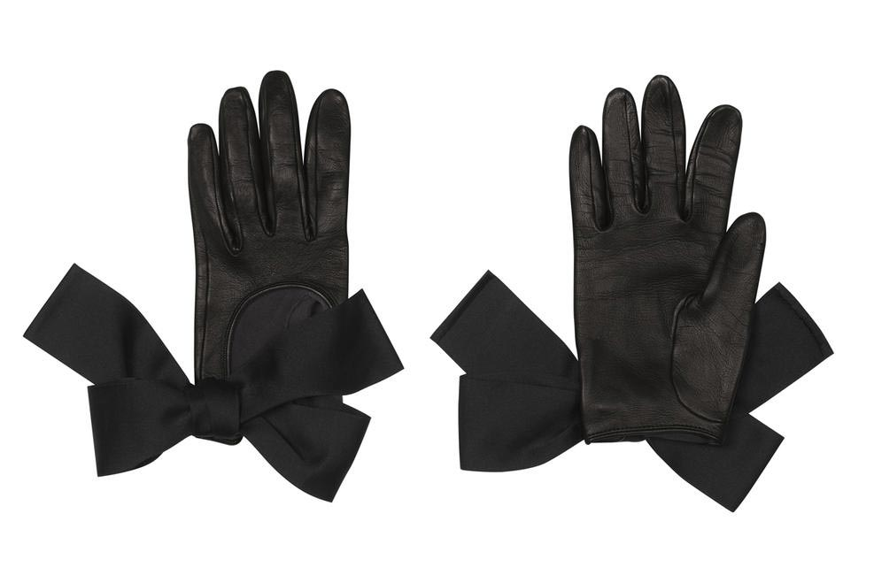 Louis Vuitton Leather Gloves With Bow Details